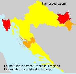 Surname Platz in Croatia