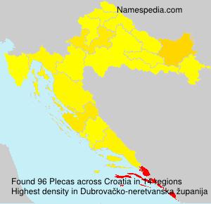 Surname Plecas in Croatia