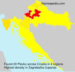 Surname Plevko in Croatia