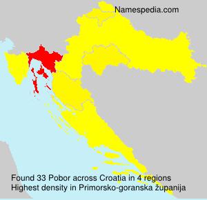 Surname Pobor in Croatia