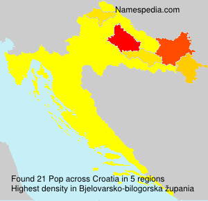 Surname Pop in Croatia