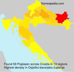 Surname Poplasen in Croatia