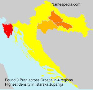Surname Pran in Croatia