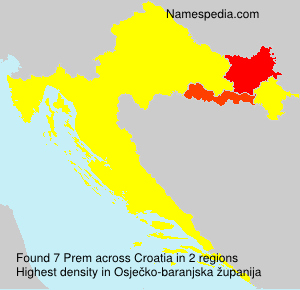 Surname Prem in Croatia