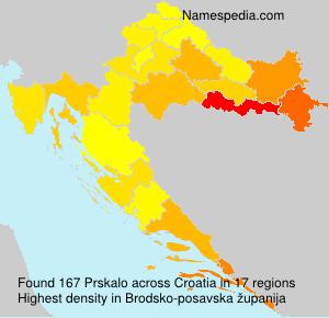 Surname Prskalo in Croatia