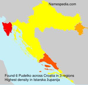 Familiennamen Pudelko - Croatia