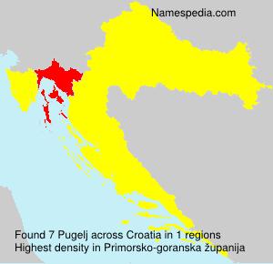 Surname Pugelj in Croatia