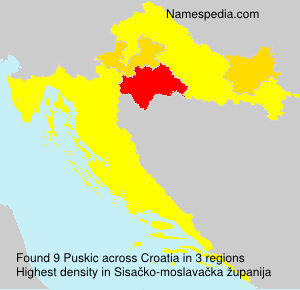 Surname Puskic in Croatia