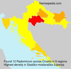 Surname Radomirovic in Croatia