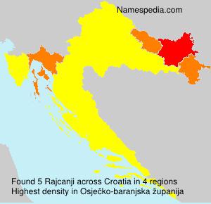 Surname Rajcanji in Croatia