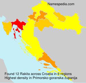 Familiennamen Rakita - Croatia