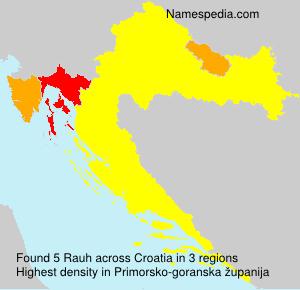 Surname Rauh in Croatia