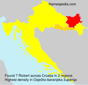 Surname Rickert in Croatia