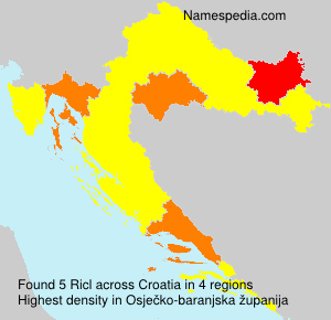Surname Ricl in Croatia