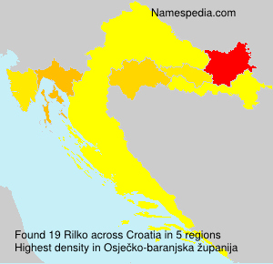 Surname Rilko in Croatia