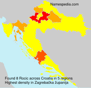 Surname Rocic in Croatia