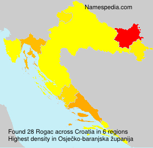 Surname Rogac in Croatia