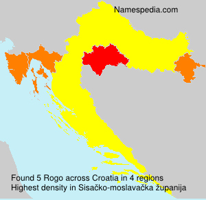 Surname Rogo in Croatia