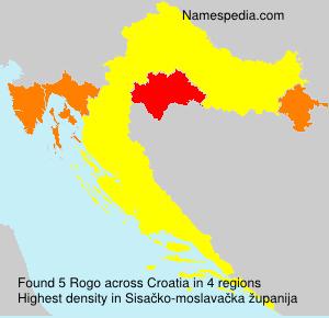 Surname Rogo in Croatia