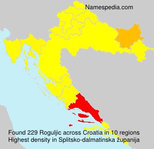 Surname Roguljic in Croatia