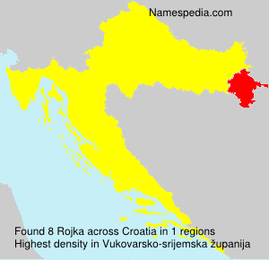 Surname Rojka in Croatia