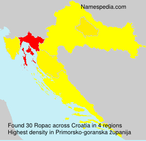 Surname Ropac in Croatia