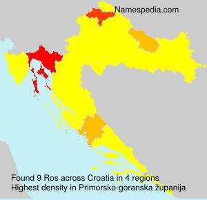 Surname Ros in Croatia