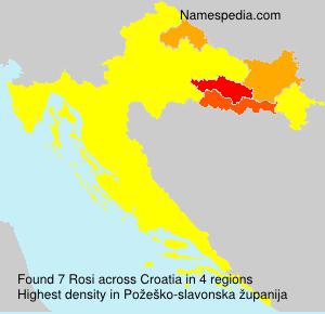 Surname Rosi in Croatia