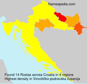 Surname Rostas in Croatia