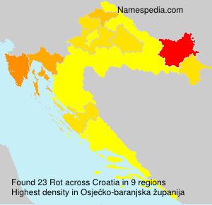Familiennamen Rot - Croatia