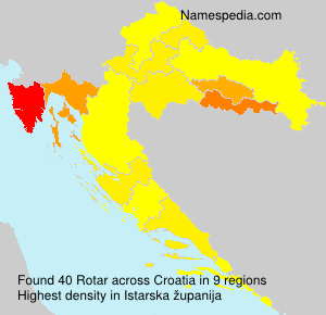 Surname Rotar in Croatia