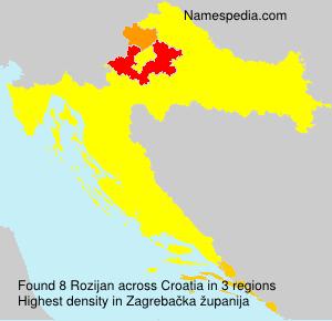 Surname Rozijan in Croatia