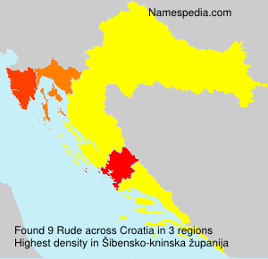 Surname Rude in Croatia