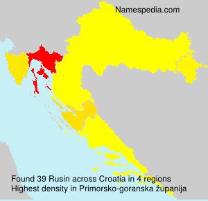 Surname Rusin in Croatia