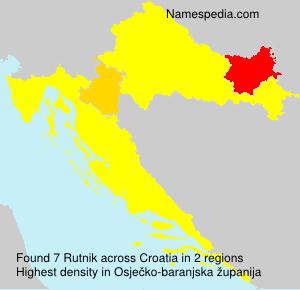 Surname Rutnik in Croatia
