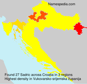 Surname Sadric in Croatia