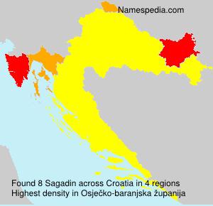 Familiennamen Sagadin - Croatia