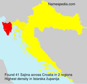 Familiennamen Sajina - Croatia