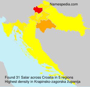 Surname Salar in Croatia