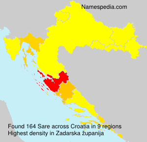 Surname Sare in Croatia