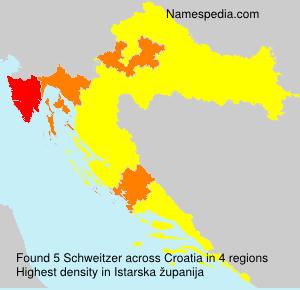 Surname Schweitzer in Croatia