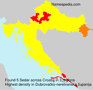Surname Sedar in Croatia