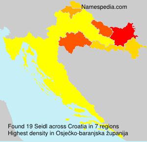 Surname Seidl in Croatia