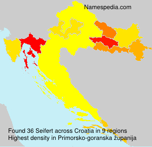 Surname Seifert in Croatia