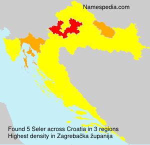 Surname Seler in Croatia