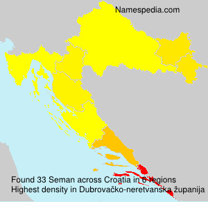 Surname Seman in Croatia