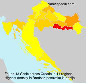 Surname Senic in Croatia
