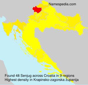 Surname Senjug in Croatia