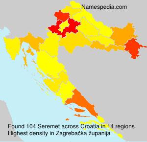 Surname Seremet in Croatia
