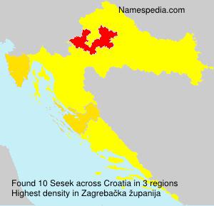 Familiennamen Sesek - Croatia